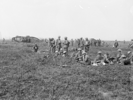 Battle of Amiens a break in the advance