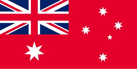 Australian defaced ensign as used in 1918
