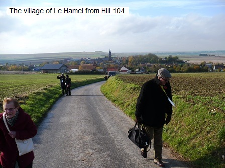 Le Hamel village from Hill 104