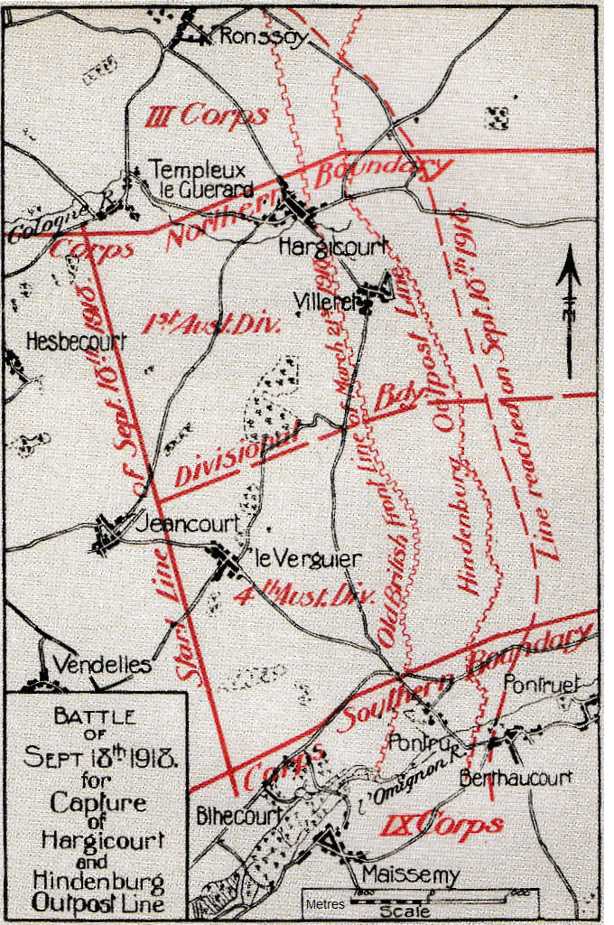 Hindenburg Outpost Line Battle Map